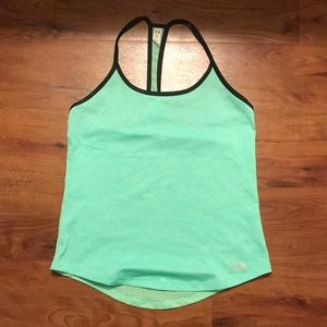 Green workout tank from Under Armour